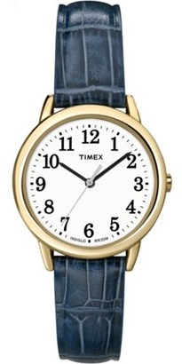Timex Women's South Street Watch, Blue Croco Pattern Leather Strap