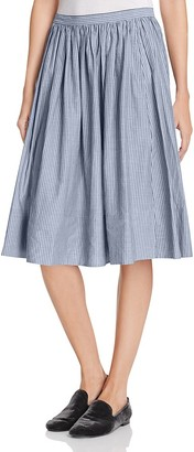 Vince Shirred Full Skirt $275 thestylecure.com