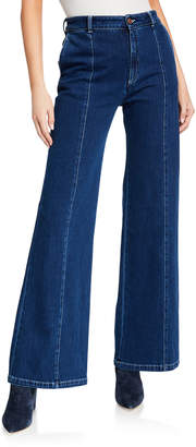 See by Chloe Flare-Leg Denim Pants