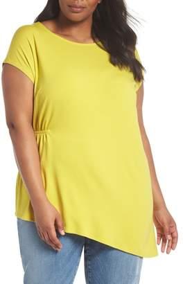 Eileen Fisher Asymmetrical Jersey Top (Plus Size)