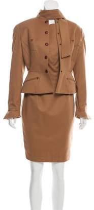 Thierry Mugler Tailored Wool Dress Set