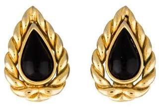 Christian Dior Pear Shaped Resin Clip-On Earrings