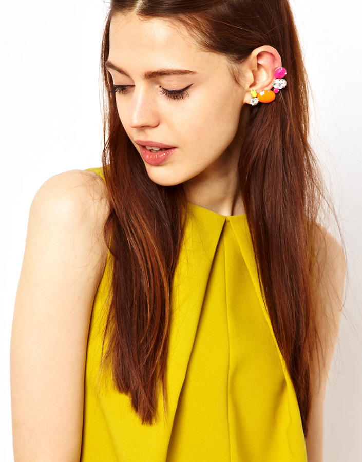 Asos Jewel Double Ear Cuff