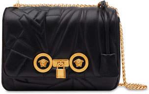 Versace Icon Medium Logo-Quilted Napa Shoulder Bag