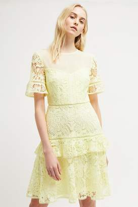French Connenction Calli Lace Round Neck Dress