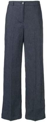 YMC striped wide leg trousers