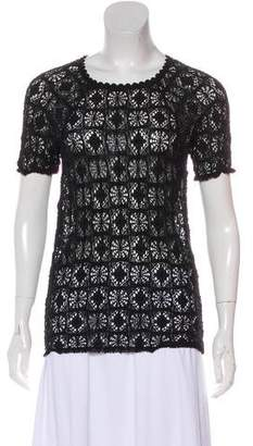 Isabel Marant Short Sleeve Lace Top