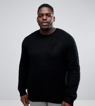Blend of America ASOS DESIGN ASOS PLUS Mohair Wool Sweater With Rib In Black