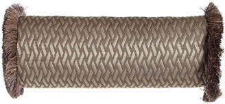 """Dian Austin Couture Home Le Plaza Woven-Pattern Neck Roll Pillow, 21"""" x 8"""""""