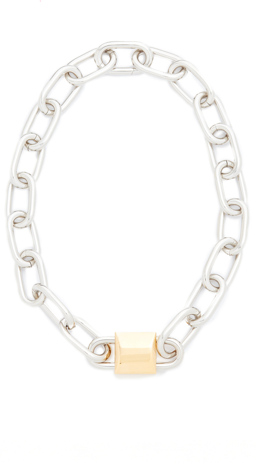 Alexander Wang Alexander Wang Double Lock Necklace