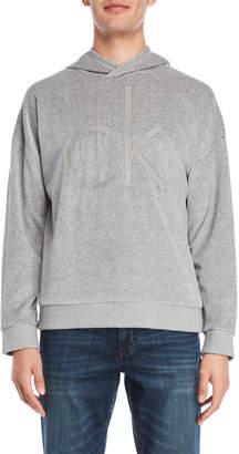 Calvin Klein Jeans Velour Oversized Cocoon Hoodie