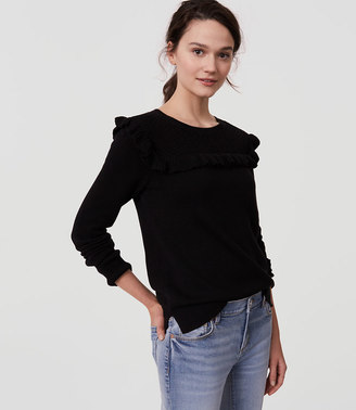 Ruffle Yoke Sweater $49.50 thestylecure.com