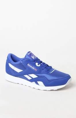 Reebok Classic Leather & Nylon Blue Shoes
