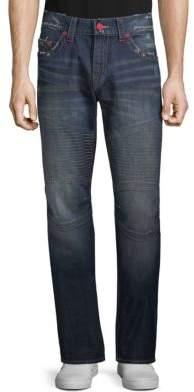 True Religion Slim Moto Contrast-Seam Jeans