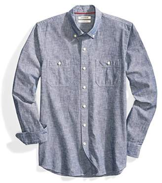 Goodthreads Men's Slim-Fit Long-Sleeve Chambray Shirt