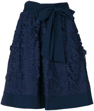 Steffen Schraut floral macrame skirt