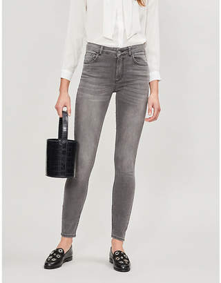 Claudie Pierlot High-rise faded skinny jeans