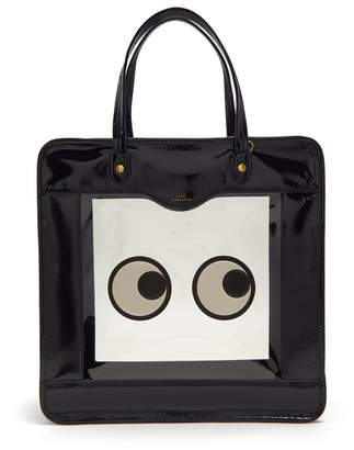 Anya Hindmarch Rainy Day vinyl-panel leather tote