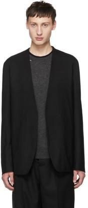 Maison Margiela Black Wool Minimal Blazer