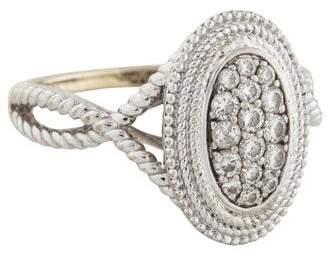 Co Gabriel & 14K Diamond Oval Crossover Ring