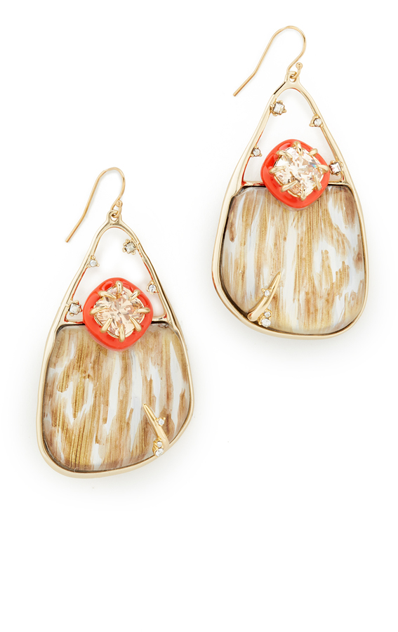 Alexis Bittar Alexis Bittar Woodgrain Wire Earrings