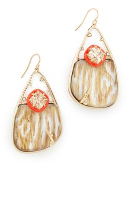 Alexis Bittar Woodgrain Wire Earrings $325 thestylecure.com