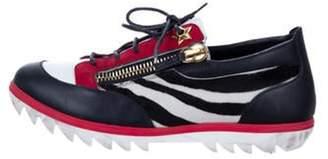 Giuseppe Zanotti Round-Toe Low-Top Sneakers black Round-Toe Low-Top Sneakers