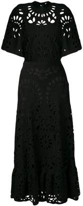 Valentino cut-out broderie anglaise dress