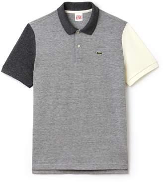 Lacoste Men's LIVE Slim Fit Colorblock Cotton Petit Pique Polo