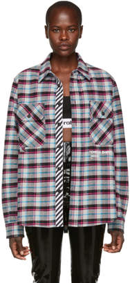 Off-White Multicolor Quote Check Shirt
