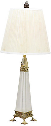 One Kings Lane Vintage Mid-Century Brass & Lucite Obelisk Lamp - Vintage Bella Home