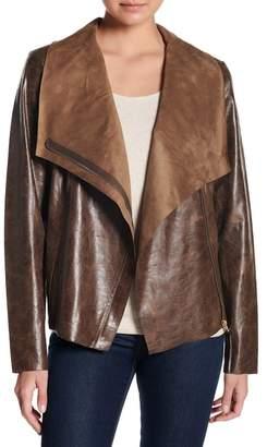 Moto Coffee Shop Faux Leather Jacket