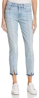 7 For All Mankind Ankle Skinny Jeans in Ocean Breeze - 100% Exclusive