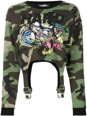 Jeremy Scott camouflage cropped sweatshirt