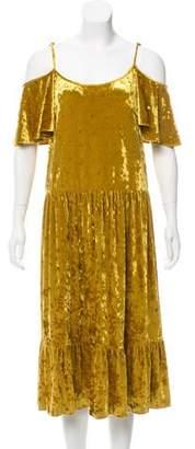 Rebecca Minkoff Velour Midi Dress