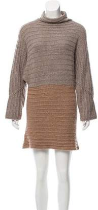 Nellie Partow Cashmere & Silk Sweater Dress