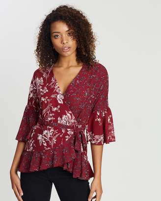 French Connection All Over LS Print Top