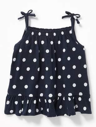 Old Navy Tie-Shoulder Peplum Tank for Toddler Girls