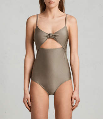 AllSaints Rita Metallic Swimsuit