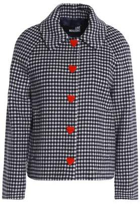 Love Moschino Gingham Wool-Blend Jacket