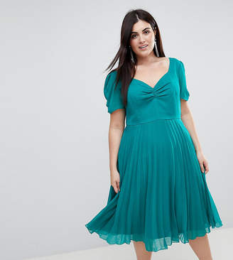 Asos Pleated 40s Midi Tea Dress