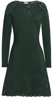 Outlet With Paypal Order Online Free Shipping Discount Temperley London Woman Sami Laser-cut Neoprene Dress Dark Green Size 12 Temperley London odbhLIE