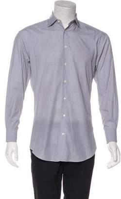 Armani Collezioni Woven Spread Collar Shirt