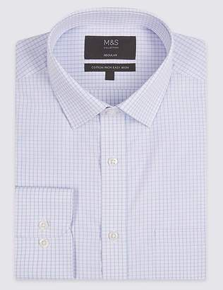 Marks and Spencer Cotton Rich Regular Fit Shirt