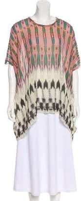 Nicole Miller Silk Kimono Top
