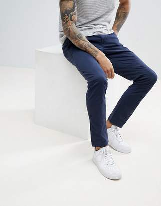 Tommy Hilfiger Bleecker Slim Fit Chinos Back Flag Logo In Navy