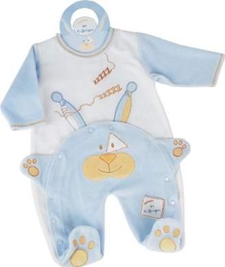 Doudou Et Compagnie Rabbit Pyjamas Blue 0 3 Months