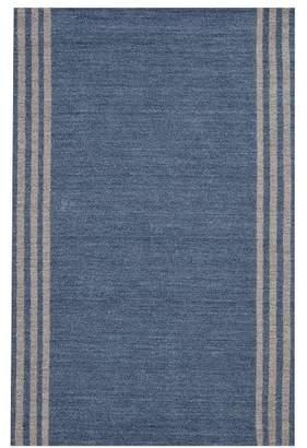 Pottery Barn Teen Dockside Stripe Rug, 3'x5', Navy/Gray