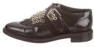 Burberry Leather Kiltie Loafers