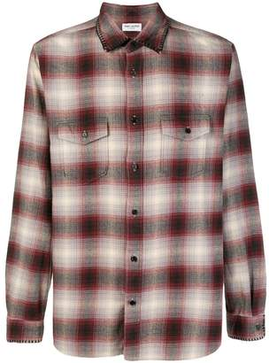 Saint Laurent check long-sleeve shirt